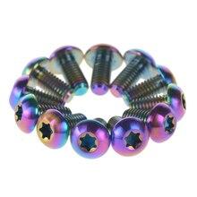 12 шт. титановые винты дисковые тормозные винты для ротора болты M5* 10 мм M5 10 мм для Avid Hayes Magura Formula Hope 5 цветов