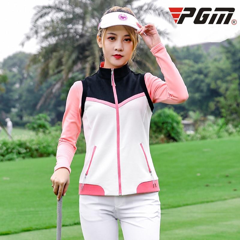 PGM Golf Long Sleeve Ice T-shirts Women Summer Outdoor Sport Clothes Soft Viscose Shirt Sunscreen UV Underwear Golf Apparel
