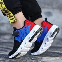 New Children Shoes Boys Sneakers Sport Fly Weaving Breathable Kids Girls Running Walking