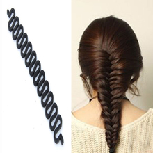 купить Waves Braider Tool Fashion Lady French Magic Hair Braiding Black Fish Bond Twist Styling Bun Maker For Gir дешево
