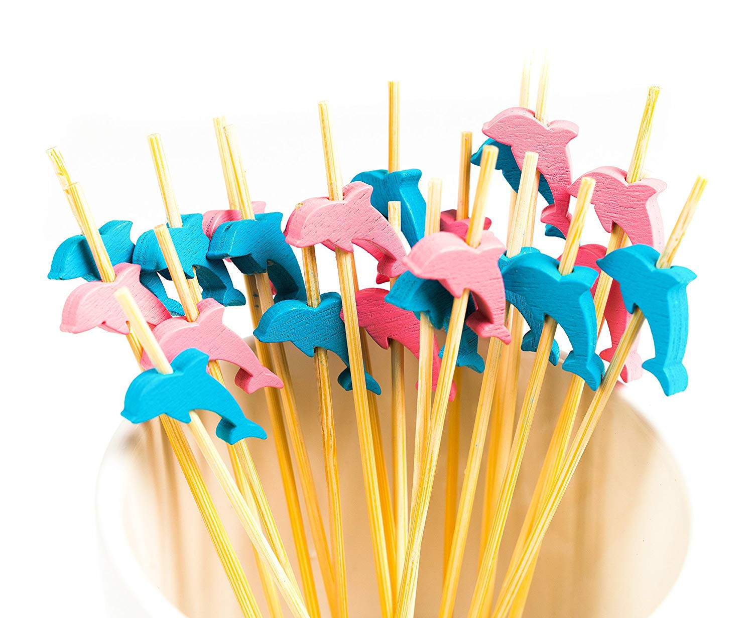 METABLE 100 Counts Cocktail Picks Handmade Natural Bamboo Sticks Appetizer Skewers for Cocktail Appetizers Fruits Dessert in Cake Decorating Supplies from Home Garden