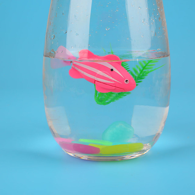 Robotic Fish Activated Battery Powered Swimming Boy Bath Pet Toys Aquarium Tank Decor Ornaments Plastic Waterproof Robofish
