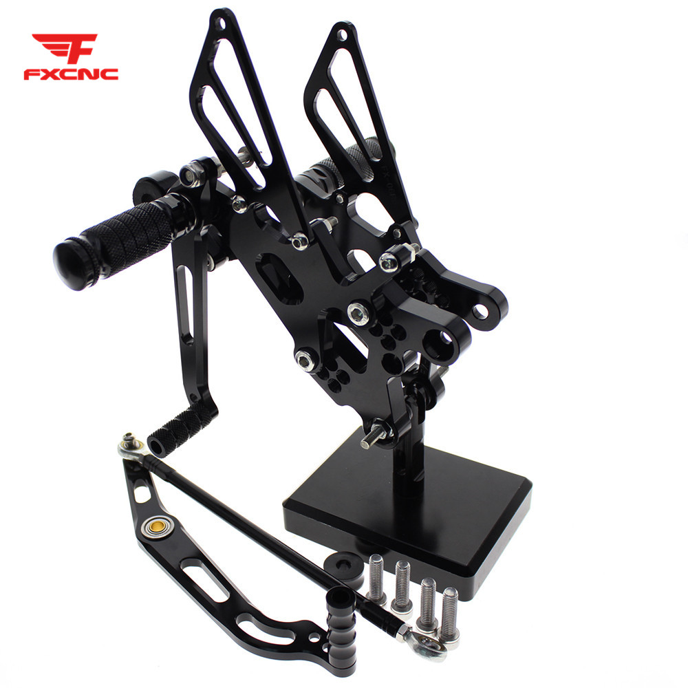 For YAMAHA YZF R6 Yzf R6 2006-2016 2015 2014 2013 CNC Aluminum Alloy Motorcycle Footrest Footpeg Pedal Foot Peg Rearset Rear Set