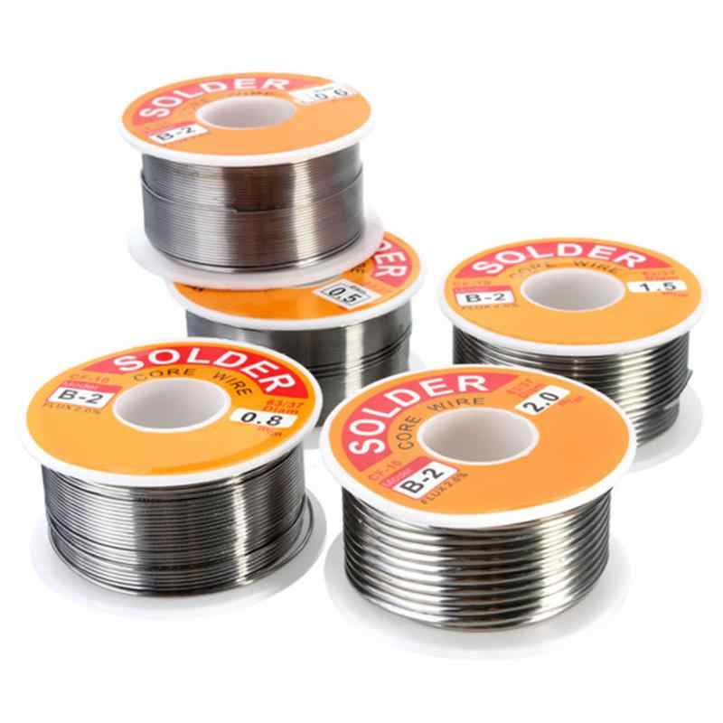 0.5/0.6/0.8/1.0/1.2/1.5/2 Mm 100G/Roll 63/37 Tin lood Rosin Core 2% Flux Reel Lassen Lijn Soldeer Schoon Rosin Core