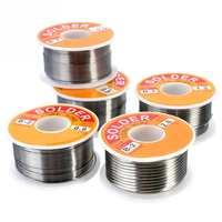 0,5/0,6/0,8/1,0/1,2/1,5/2 мм 100 г/рулон 63/37 оловянный свинцовый сплав канифоль ядро 2% флюс катушка для сварки линии припоя провода чистый канифоль ядро