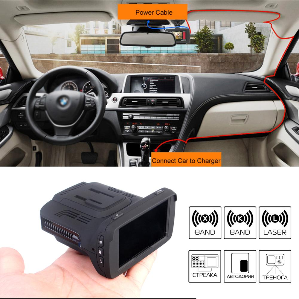 Car-Dvr-Radar-Detector Logger Video-Recorder Language 170-Degree-Angle GPS Russian 3-In-1