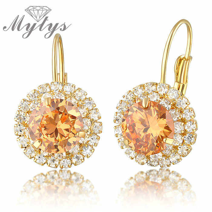 Mytys Crystal Anting-Anting untuk Wanita Bulat Anting-Anting Multi Warna Fashion Crystal Anting-Anting E176 E177 E178 E179
