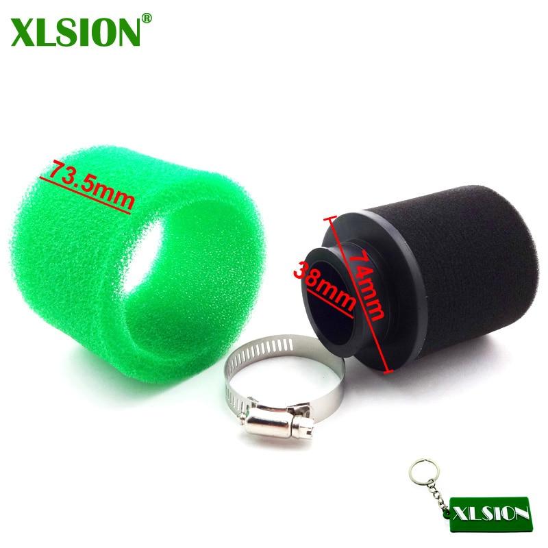 Воздушный фильтр XLSION, пенопластовый фильтр 38 мм для скутеров, мопедов, квадроциклов GY6, 50 куб. См, Lifan YX, Thumpstar, YCF, 125 куб. См, для питбайков