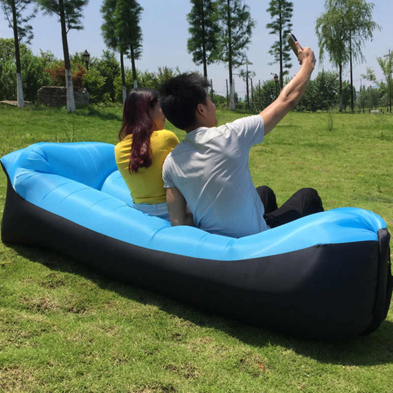Waterproof Lazy Pillow Beach Sleeping bag bed  Outdoor inflatable bed Portable air sofa Outdoor pillow  Oxford cloth 240*70cm