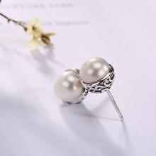 Silver Pearl Inlay Pattern Earrings Temperament High-grade Ladies Style Ways Eardrop Wholesale