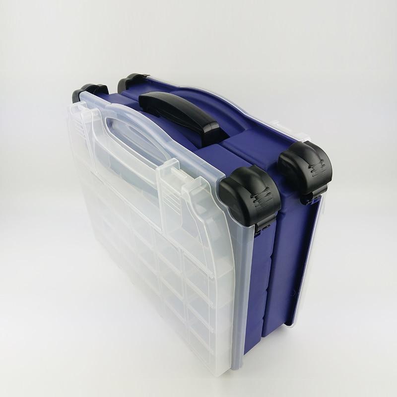 SHOUDIAO Multi Functional Casella di Pesca Pesce Esca Box ad Alta resistenza 42*20*35 cm di Plastica Trasparente Accessori Box - 2