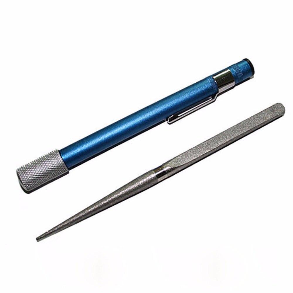 Multifunctional Sharpening Stone Pen Type Diamond Knife Stick Outdoor Pocket Hunting Fishing Hooks Sharpener Tackle Boxes