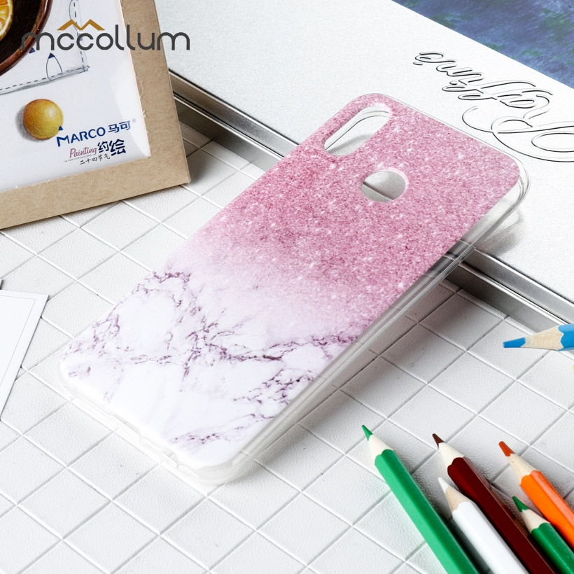 Clear Soft TPU Phone Case For Huawei P20 Lite Case Silicone Painted Cover For Huawei P20 Pro Plus Back Cover Protective Shell in Fitted Cases from Cellphones Telecommunications