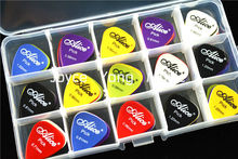 100pcs Alice Smooth Nylon Acoustic Electric Guitar Picks Plectrums+1 Large Plastic Picks Holder Case Box Free Shipping стоимость