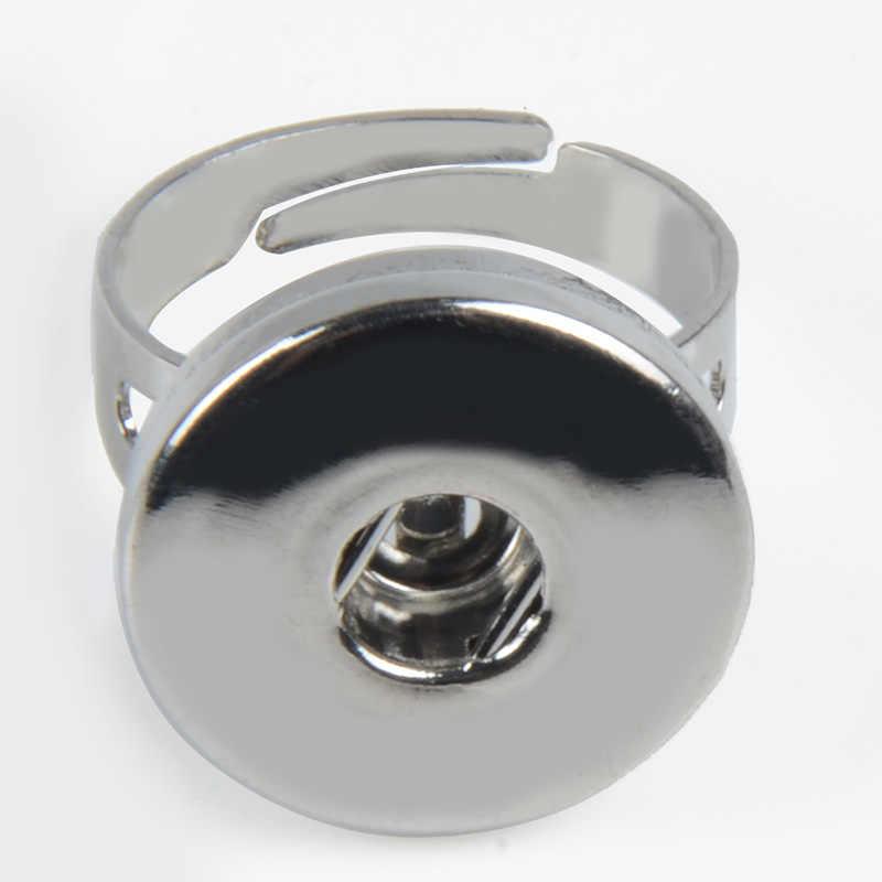 Botón en blanco Holland anillos joyería 18 MM botón a presión anillos Accesorios