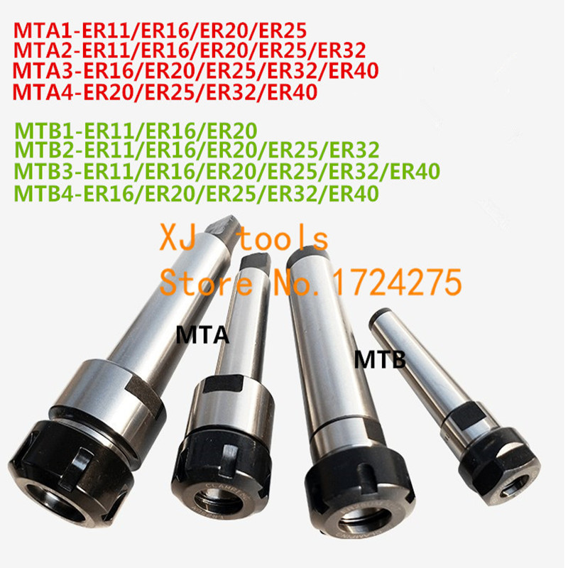 MT1/MT2/MT3/MT4 Morse taper ER11/ER16/ER20/ER25/ER32/ER40 collet chuck Holder,CNC tool holder clamp.-in Tool Holder from Tools