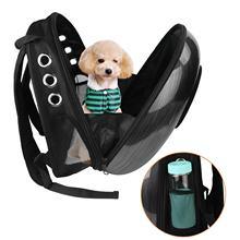 b0560ccf183a Mascota perro gato espacio bolsas de transporte para mascotas mochila  ventana cachorro gato pequeño perro transporte al aire lib.