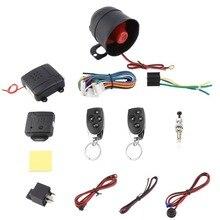 Универсальный 1 Автомобильный пульт дистанционного управления ЖК-дисплей двухполосная Автомобильная сигнализация автомобиля Системы защиты безопасности Системы Автозапуск Сирена+ 2 пульта дистанционного Управление охранная