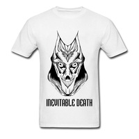 Christian T Shirts Men Inevitable Death Believer T Shirt 100 Organic Combed Cotton Clothes Shirt 2018
