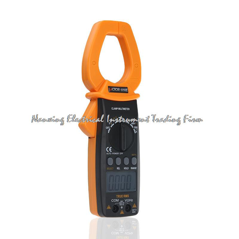 Fast arrival VICTOR 6056E VC6056E Digital Clamp Meter Jaw open 55mm portable design, can be one-handed operation victor 6056d digital clamp meter