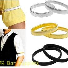 Armbands Sleeve-Holders Elastic Metal Shirt Bracelet Solid-Color