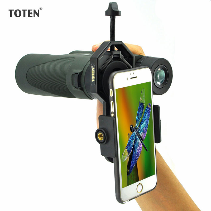 TOTEN Universal Cell font b Phone b font Adapter Mount Monocular Binoculars Spotting Scope Bracket Eyepiece