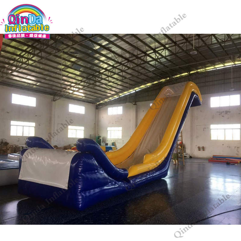 Modern design 16.4ft height PVC  Inflatable Water Floating Slide For Yachts environmentally friendly pvc inflatable shell water floating row of a variety of swimming pearl shell swimming ring
