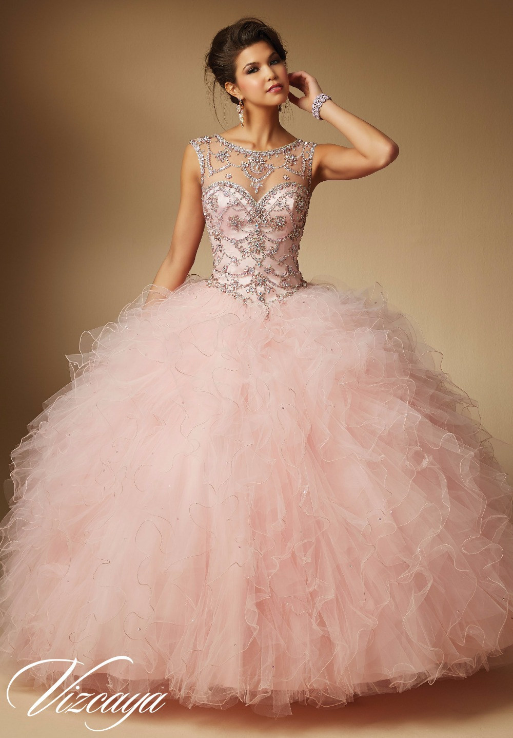Gorgeous Woman Quinceanera Dresses Sweet 16 Vestidos 15 Beads Birthday Party Gowns Custom Made Floor Length Diamond Beading In From