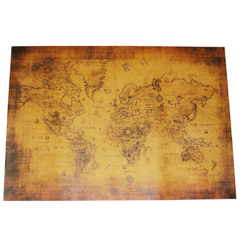 2pcs World Map Poster Classic Retro Poster Scratch World Map Personalized Travel Map Home Decoration Artist Office Wall Stickers