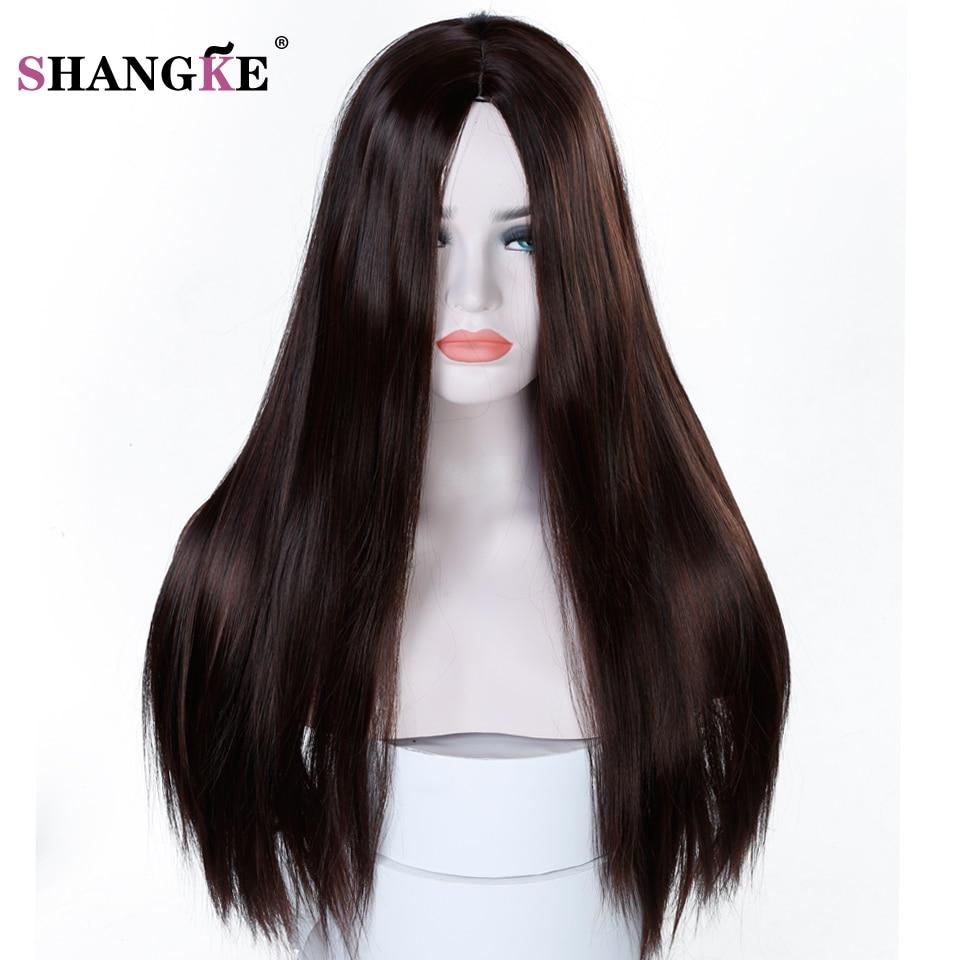 Shangke 22 ''длинный прямой парик Для женщин прически термостойкие Искусственные парики для Для женщин афроамериканец шиньоны