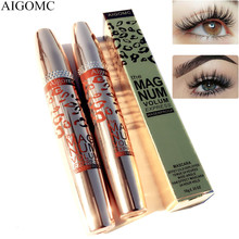 AIGOMC Brand Makeup Curling Thick Mascara Volume Express False Eyelashes Make up Waterproof Cosmetics Eyes Aluminum tube