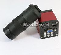 Free Shipping HDMI VGA HD Industry Video Microscope Camera 8 130X Digital Zoom 1080p 60F S