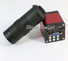 Darmowa wysyłka Przemysłu 13MP HDMI VGA HD Wideo Kamery Mikroskopu 8 ~ 130X zoom cyfrowy 60F/S-video wyjście + C-MOUNT obiektyw Aparatu
