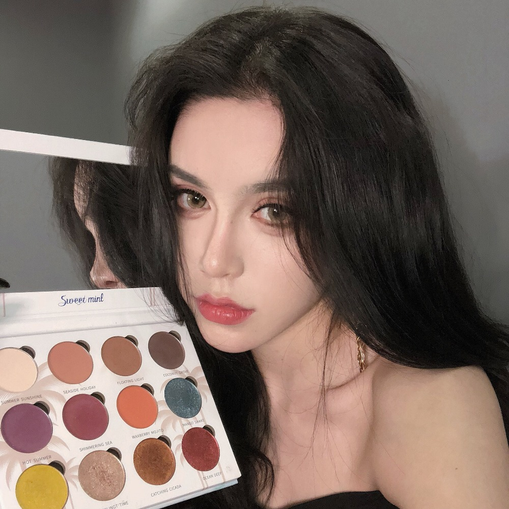 Pearl Makeup >> Us 13 31 26 Off Fashion 12 Colors Matte Eyeshadow Colorful Eye Shadow Palett Students Tired Of The World Makeup Matte Pearl Makeup Pallette Set In