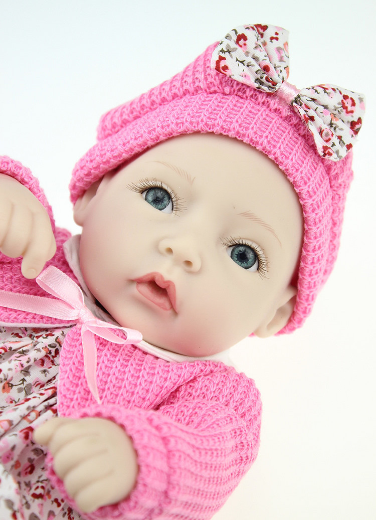 Classic 11 Inch Princess Girl Doll Handmade Full Silicone Vinyl Reborn Baby Dolls With Red Rose Clothes Set Kids Birthday GiftClassic 11 Inch Princess Girl Doll Handmade Full Silicone Vinyl Reborn Baby Dolls With Red Rose Clothes Set Kids Birthday Gift