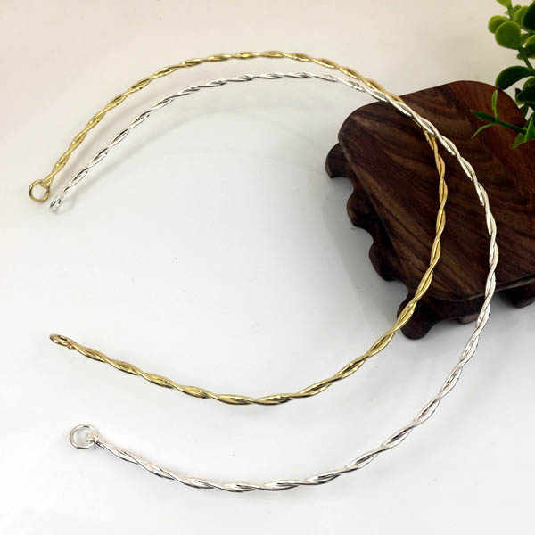 380mm Iron Metal Wired Tiaras Hairband Hair Accessories Simple Findings for DIY Bridal Headpiece Making