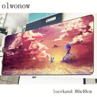 pokemons mouse pad 80x40cm Cartoon mousepads best gaming mousepad gamer Aestheticism personalized mouse pads keyboard pc pad 3