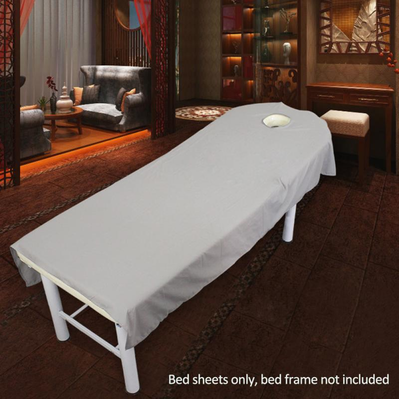New Cosmetic salon sheets SPA massage treatment bed table cover sheets with hole