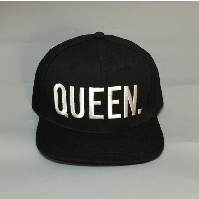 0198c6b7623 KING QUEEN Letter Embroidery Print Snapback Hats Flat Bill Mesh Men Women  Gifts for Him Her