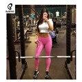 Bebang High Elastic Yoga Pant Pink Body building  Fitness Leggings Women Sport Leggings Running Training Gym Women Leggings