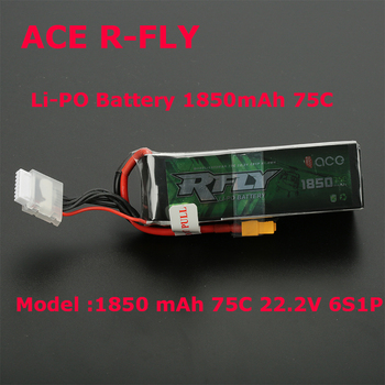 Original ACE RFly 1850mAh 6S 22.2V 75C Max 150C Lipo Battery XT60 for Helicopter Fixed Wing Drone Airplan