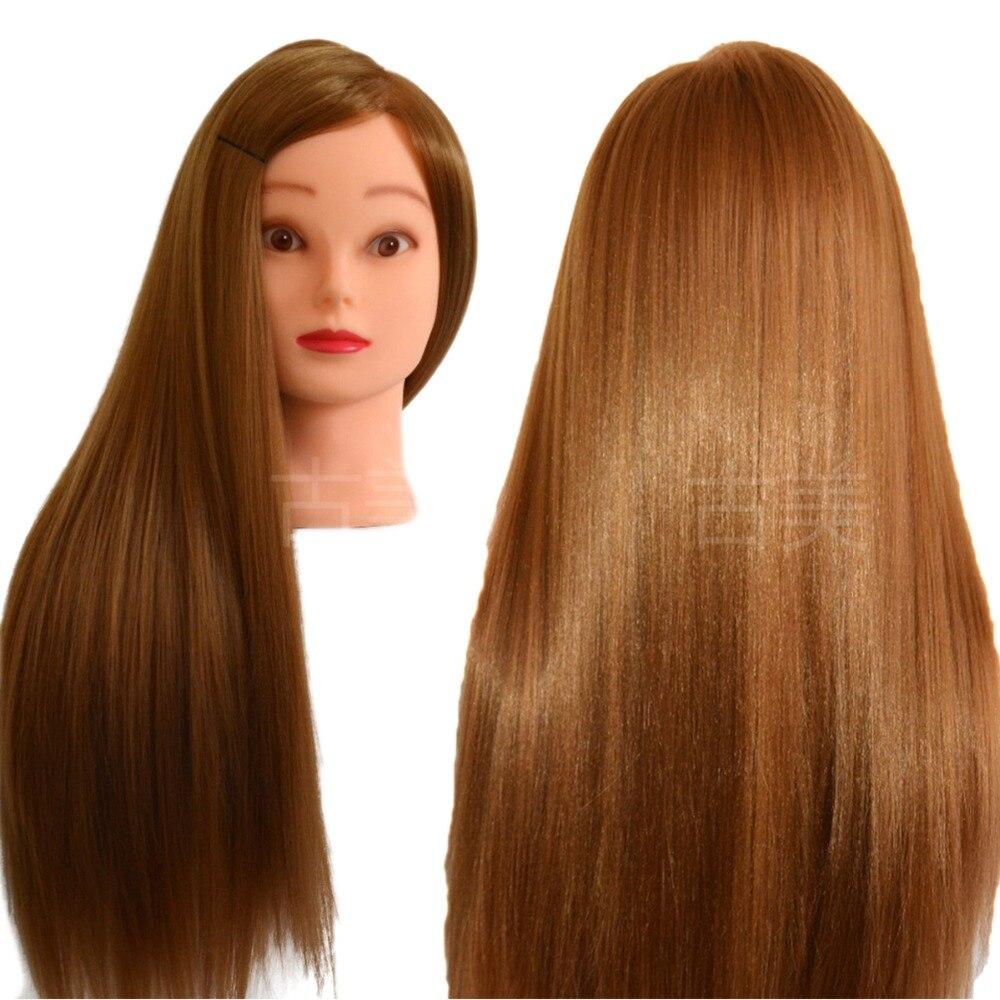 Professionnel Style Tête de Mannequin Cheveux D'or D'épaisseur Maniqui Perruque Tête Pour De Mariée Coiffure Poupées Tête Tête De La Formation Mannequin 70 cm
