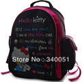 Hello Kitty Cartoon Black Color School Bags Lovely Backpacks For Children (1 piece)+ Free Shipping