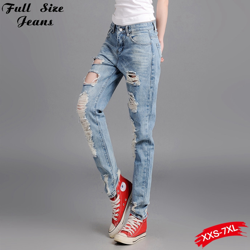 ФОТО Baggy Jeans For Womens Vintage Retro Ripped Big Hole Rock Vintage  Pencil Pants American Apparel Jordan 11 Legend Blue 24 26 28