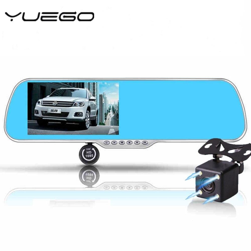 imágenes para 5.0 pulgadas táctil android espejo retrovisor coche cámara de wifi gps navigator aparcamiento vídeo full hd 1080 p coche dvr de doble lente grabadora