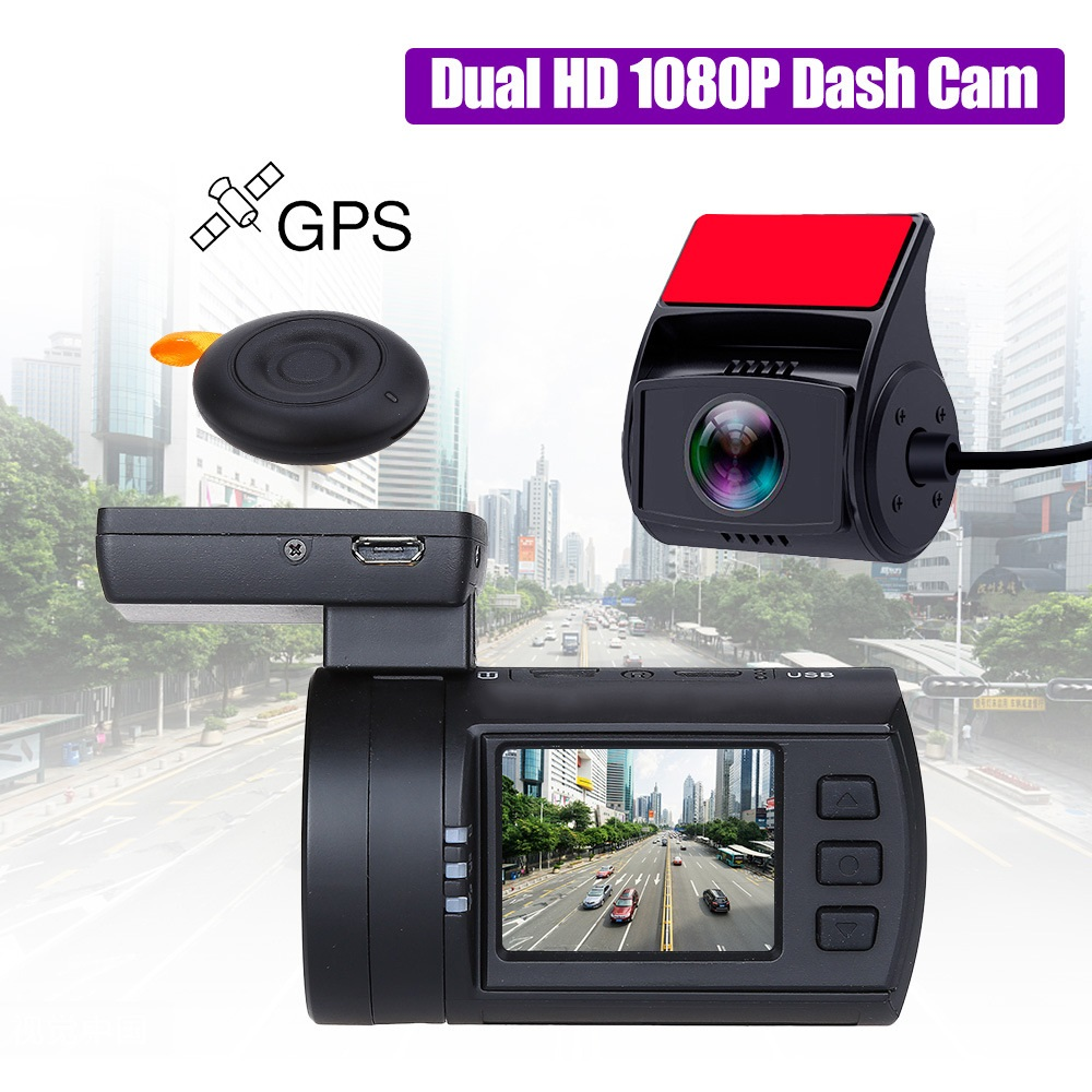 universal Vehicle Dual Lens Dash Camera Mini 0906 with Sony Sensor 1080P Dual lens Car Dash Cam Full HD Novatek GPS Tracker Car