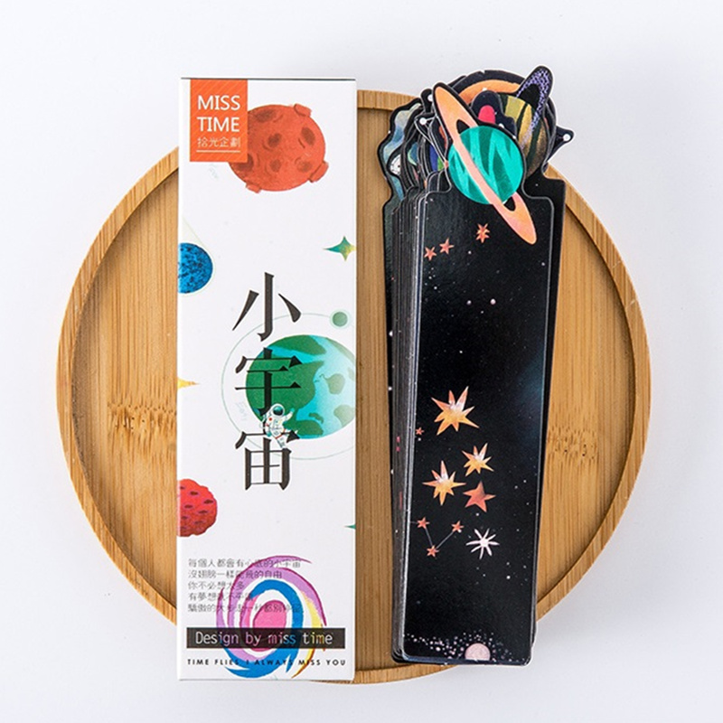 30 pcs Mini cosmos bookmark set Starry sky bookmarks for book kids Stationery Office School supplies gift marcador de livro F96030 pcs Mini cosmos bookmark set Starry sky bookmarks for book kids Stationery Office School supplies gift marcador de livro F960