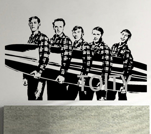 Beach Boys Wall Poster Sticker American Rock Band Vinyl Decal Music Mural In Wall Stickers From