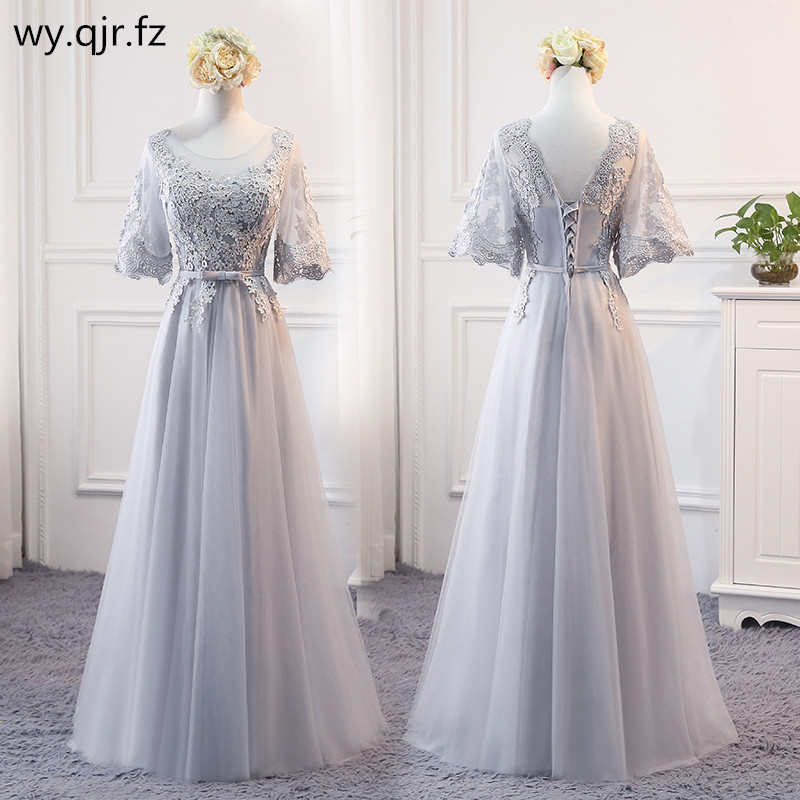 PTH-MSY#Grey Lace Up   Bridesmaid     Dresses   Long Middle Short Style Wedding Party   Dress   Prom Gown Wholesale fashion women Clothing