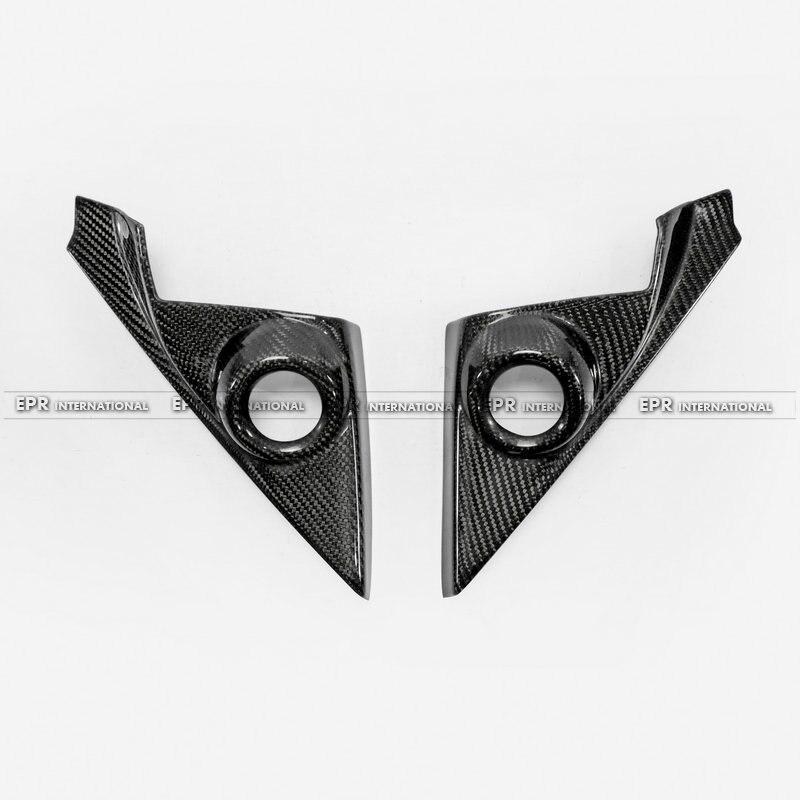 Carbon Fiber A pillar speaker trim 2Pcs LHD Car styling Accessories Fit For 10th Generation Civic FC